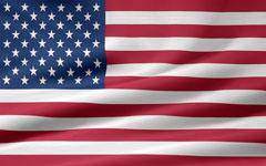 rippled United States flag